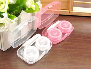 Portable Plastic Contact Lens Case Compact Multicolor Conjoined Duplex Boxes Pure Color Beautiful Pupil Box New Arrival 0 8hq J2