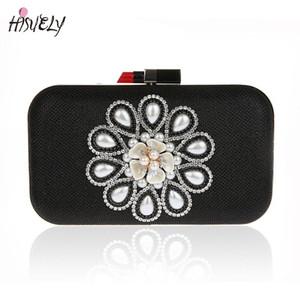 5 cores hisuely 2020 Novo Design Mulheres de noite sacos artesanal frisado Diamonds Design Festa Para Embreagens / Jantar Bolsa WY135