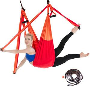Aerial Yoga Hammock Swing Air Anti-gravity Elastic Bodybuilding Pilates Training Yoga Belts Suppliers Fitness Equipment for Home