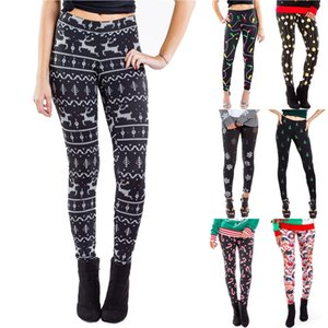European and American Christmas digital printing tight pants women's slim and hip raising Leggings Christmas printing Leggings T500390