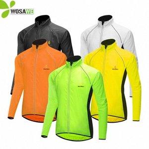 WOSAWE 5 Renk Spor ceketler Nefes Yansıtıcı Güvenlik Giyim Erkek Bayan Bisiklet Bisiklet Bisiklet WINDBREAKER Tişörtü Z5jR #