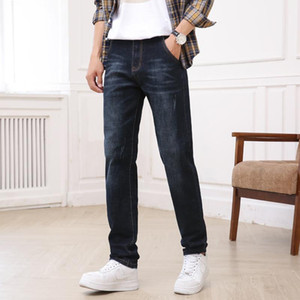 Autumn Heavyweight Straight Men Jeans Monkey Wash Casual Men Clothing Black 36 38 40