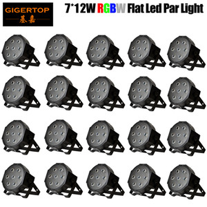 Wholesales 20pcs lot 7x12W Led Stage Lights High Power Wash Effect RGBW 4IN1 Plastic Case Wedding Party Club Lights CE 90V-240V