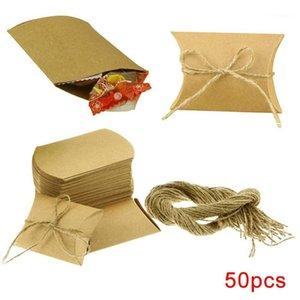 Подарочная упаковка 50 шт. Крафт бумаги деревенские конфеты коробки упаковки сумка вечеринка свадьба рождения юбилей на день