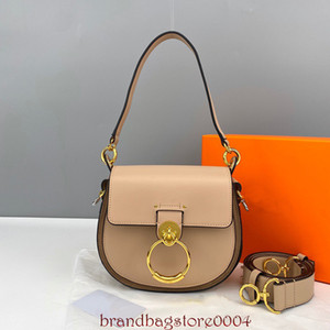 2021 New Fashion Saddle Bag Pure Cuero Star con la misma bolsa de lujo Correa Cross Bag All-Match Anillo Bolso