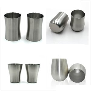 304 Stainless steel tumbler single wall mug wine beer coffee water glass egg shaped cup collapsible portable full-range sizes