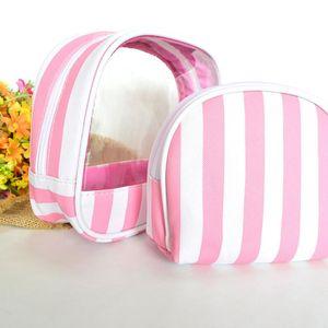 Bag Organizer Bag Professional Travel Cosmetic Makeup Wavy Slipe Neceser PCS / комплект ПВХ 2020 Туалетные принадлежности 2 макияж напечатан MSMJX