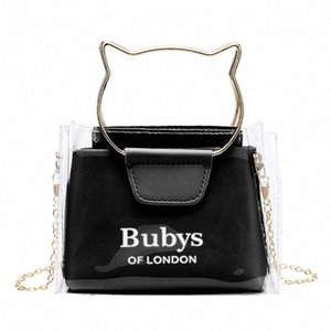Women Transparent Small Handbag Shoulder Bag Cute Beach Female Tote VFPj#
