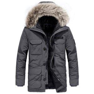 Winter Duck Down Jacket Men Fashion Casual Hooded Fur Collar Thick Warm Windbreaker Winter Coat Men Plus Size M-XXXL Parka Coat