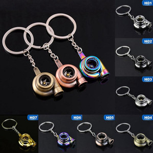 Real Whistle Sound Turbo Keychain Sleeve Bearing Spinning Auto Part Model Turbine Key Chain Ring Keyfob Keyring