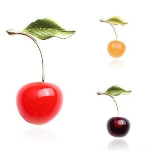 ycoopsmall frisch kristall strass brosche koreanische kirsche emaille glasur cherry cherry brosche meer mode pferd pin brosche