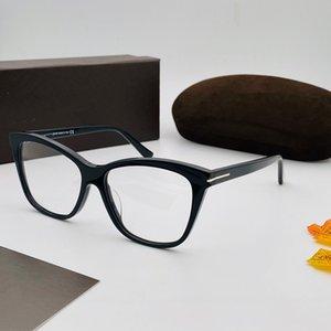 5512 Yeni Gözlükler Kadın ve Erkek Popüler Kare Retro Stil Dikdörtgen Tabak Full Frame Yüksek Kalite Siyah Çerçeve Şeffaf Lens