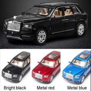 Rolls Cullinan-Legierung Auto-Modell Large Size Simulation SUV Metall Auto-Modell mit Licht-Ton-Pull Back Türen geöffnet