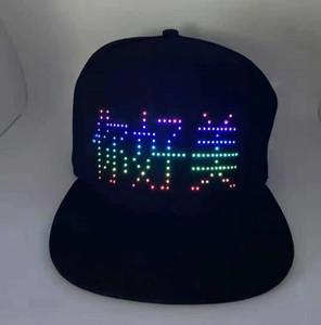 Les fabricants LED clignotant et chapeaux pour les hommes des femmes chapeaux sur mesure bluetooth écran lumineux conduit casquettes de baseball mot LOGO1 personnalisé.