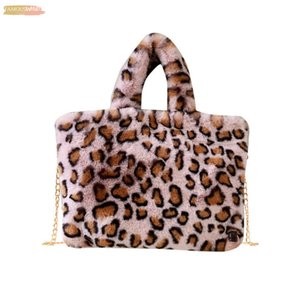 Summer Fashion Women Bag Crossbod Leopard Fashion Woman Leopard Pattern Plush Handbags Autumn And Winter Shoulder Bag 1019