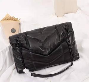 Sıcak Lüks tasarımcı LOULOU PUFFER Çift zincir omuz çantası kapitone Kuzu derisi Çanta Yüksek Kalite Kadınlar çanta çanta