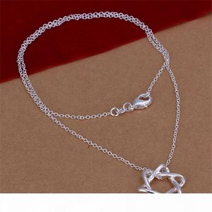 J Women &#039 ;S Gemstone Sterling Silver Pendant Necklace Gtp1 ,Fashion Flower Butterfly 925 Silver Necklace (With Chain )10 Pieces A