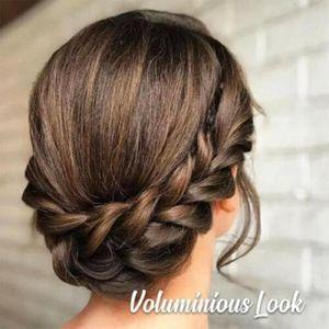 Мода синтетический парик плетеная волосы полоса для волос эластичный поводок повязки принцессы головные уборы женские девушки аксессуары для волос Q SQCNDH