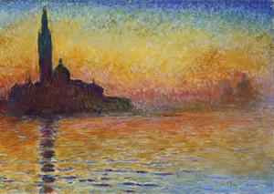Claude Monet San Giorgio Maggiore At Dusk Ev Dekorasyonu Handpainted HD Yağ On Tuval Wall Art Canvas Resimler 201.108 Boyama yazdır