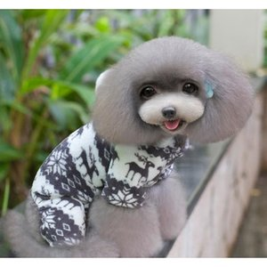 Winter Pet Dog Clothes Fashion Pet Puppy Warm Coral Fleece Clothes Reindeer Snowflake Jacket Apparel Dog Co wmtmiW my_home2010