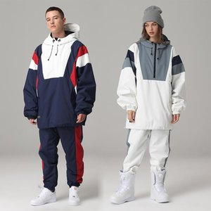 Ski Suit Women Men Ski Hoodie Skiing Snowboard Suit Male Female Winter Warm Outdoor Waterproof Windproof Jacket And Pants