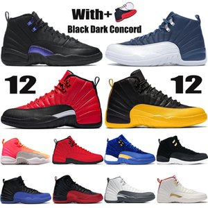 NOUVEAU 12 12S Jumpman Hommes Chaussures de basketball Noir Dark Concord Indigo Inverse Green Game Sunrise Bulls Blanc Dark Grey Fiba Mens Baskets Baskets Formateurs