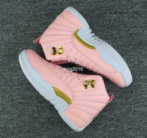 Gs Dynamische Frauen Basketball Neue Schuhe Vivid Rosa 12 12s Sport Turnschuh-Trainer-Qualitäts-Basketball-Schuh-36-40