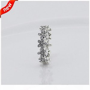 Compatible with Pandora jewelry ring daisy silver rings with cubic zircon 100% 925 sterling silver jewelry wholesale DIY KKA1951