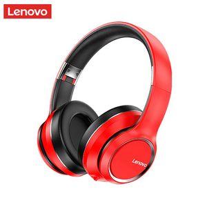 Lenovo HD200 Bluetooth Earphones Over-ouvido dobrável Computer Wireless Headphones Cancelamento de Ruído HIFI Stereo Gaming Headset
