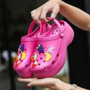 Candy Colors Women Sandals Clogs Mules EVA 2019 Summer Flip Flops Beach Garden Shoes Fashion Slippers Outdoor Platform Chinelo Feminino zZ