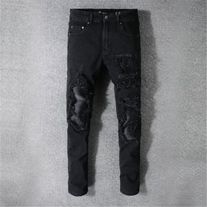 Boa qualidade Designer Jeans homens de marcas famosas rasgadas fashion streetwear de luxo de moto corredores motociclista Amiri calças jeans calças