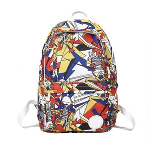 Luxury Designer Backpack Contrast Graffiti Style Multicolor New Winter Products School Bag Print High-capacity Fashion