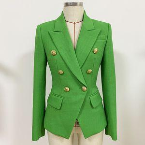 1112 XXL 2020 Free Shipping Autumn Coat Green Long Sleeve Button Lapel Neck Fashion Womens Clothes oulai