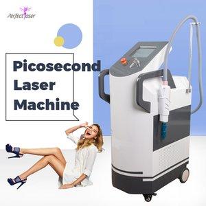 755nm PicoSecond Laser Acne Scars Traitement Tatouage 1064nm 532nm 755nm Picolaser Picolaser Pigment Machine laser avec 4 sondes