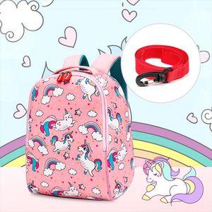 Children School Backpack 3D Cartoon Rainbow Unicorn Kids Toddler Backpack for Baby Girls Boys Kindergarten Kids School Bags