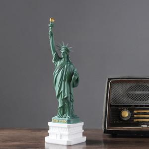 USA Resin Statue of Liberty-Modell-Dekoration Wohnzimmer Wohnkultur Office Desktop Dekorative Skulptur Modern Art Crafts