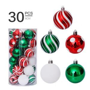 30pcs Christmas Tree toys 6cm Decorations Ball Bauble Xmas Party Hanging Ball Ornaments Decorations for Home New Year Navidad