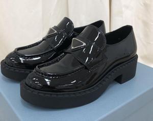 2 цвета 2020 2021 весна и осень мода женские черные блестящие настоящие кожаные коренастые платформы каблуки резиновые подошвы на плоских мосты