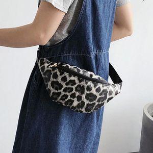 Waist Bag Leopard Large-capacity Bag For The Belt Messenger Pocket Leopard Women 2020 Handkerchief Unisex Zipper Streetwear
