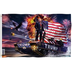 Anley mosca Breeze 3x5 pies 2020 Presidente de Trump en la bandera del tanque - Banderas Trump Una vez más ganó la elección C1002