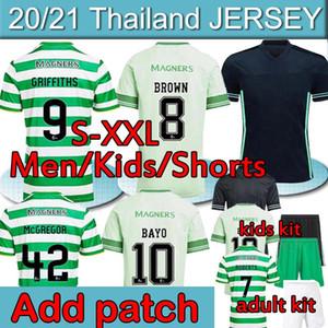 2020 2021 Celtic Soccer Jerseys Edouard Brown Duffy Taylor Christie 20 21 Celtic Jersey Home Away Terza Camicia da calcio Uomo + Kids Kit Uniformi