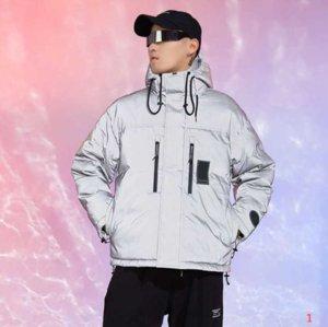 2020 Men's Jacket Down Hoodie Antumn Winter Coats Reflective Men and Women Thick Warm Jackets Fashion Style Windbreaker Coats Size S-2XL