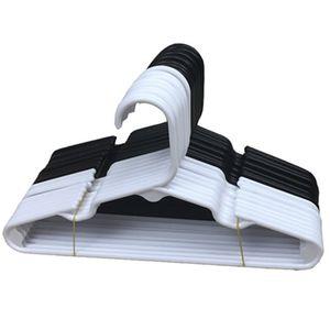 لون نقي الملابس تجفيف الدعم أسود أبيض جاف الرطب الغرض المزدوج PP جولة أنبوب البلاستيك معطف شماعات جديد وصول 0 66LX J2