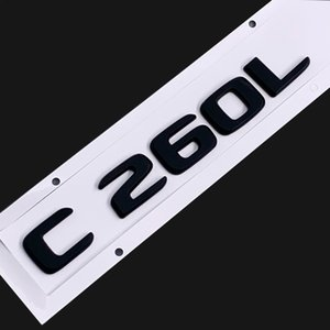 Original Size 1:1 Car rear tail Emblem Number letters Car Sticker For Mercedes Benz C260L C260 L Chrome Silver  Matte Black