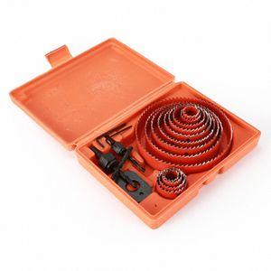 13PCS Drill Bit Set 19-127mm Rotary Tool Hole Saw Kit Woodworking Opener Cutter Mandrel Drilling Holes Accessories Wood Power lU4k#