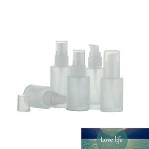 20pcs 20ml 30ml 40ml Empty Frosted Perfume Spray Glass Bottle Transparent Frosting Refillable Cream Bottle Cosmetic Container