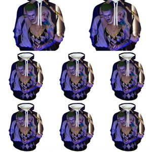 mNtuZ de spéciales pour enfants d'usure impression numérique des hommes enfants 3D digitalsweater Harley Quinn chandail à capuchon Digital et peut être transformé en jok
