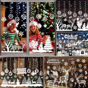 Christmas Ornaments Santa Claus Wall Window Stickers Merry Christmas Decorations For Home Navidad 2020 Xmas New Year Gift 2021