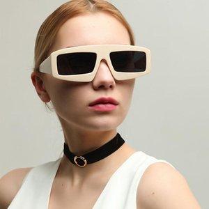 2020 Trending Black Products Hot Square Femenino Sunglasses Desiner Shades Clout Oversize Punk Quay Luxury Cool Women Gradient Htajj
