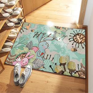 Welcome Fußmatte Eingang Mat Flur 6 Muster gedruckt Anti-Rutsch-Boden-Matte Vorleger Lustige kundenspezifische vordere Fußmatte Teppich